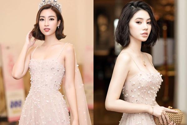Chỉ thay đổi một chi tiết mà ít hoa hậu dám làm, Đỗ Mỹ Linh và Jolie Nguyễn trông chẳng khác nào chị em sinh đôi