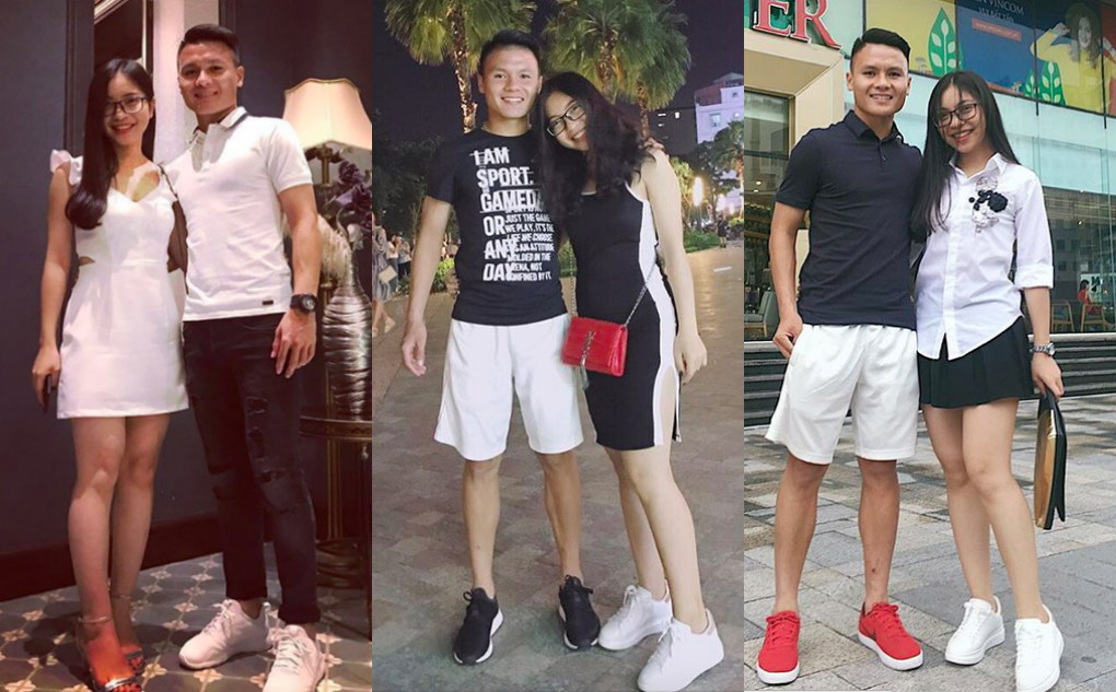 Cầu thủ Quang Hải ngoài đời chính là soái ca chăm diện đồ đôi với bạn gái lắm đấy nhé