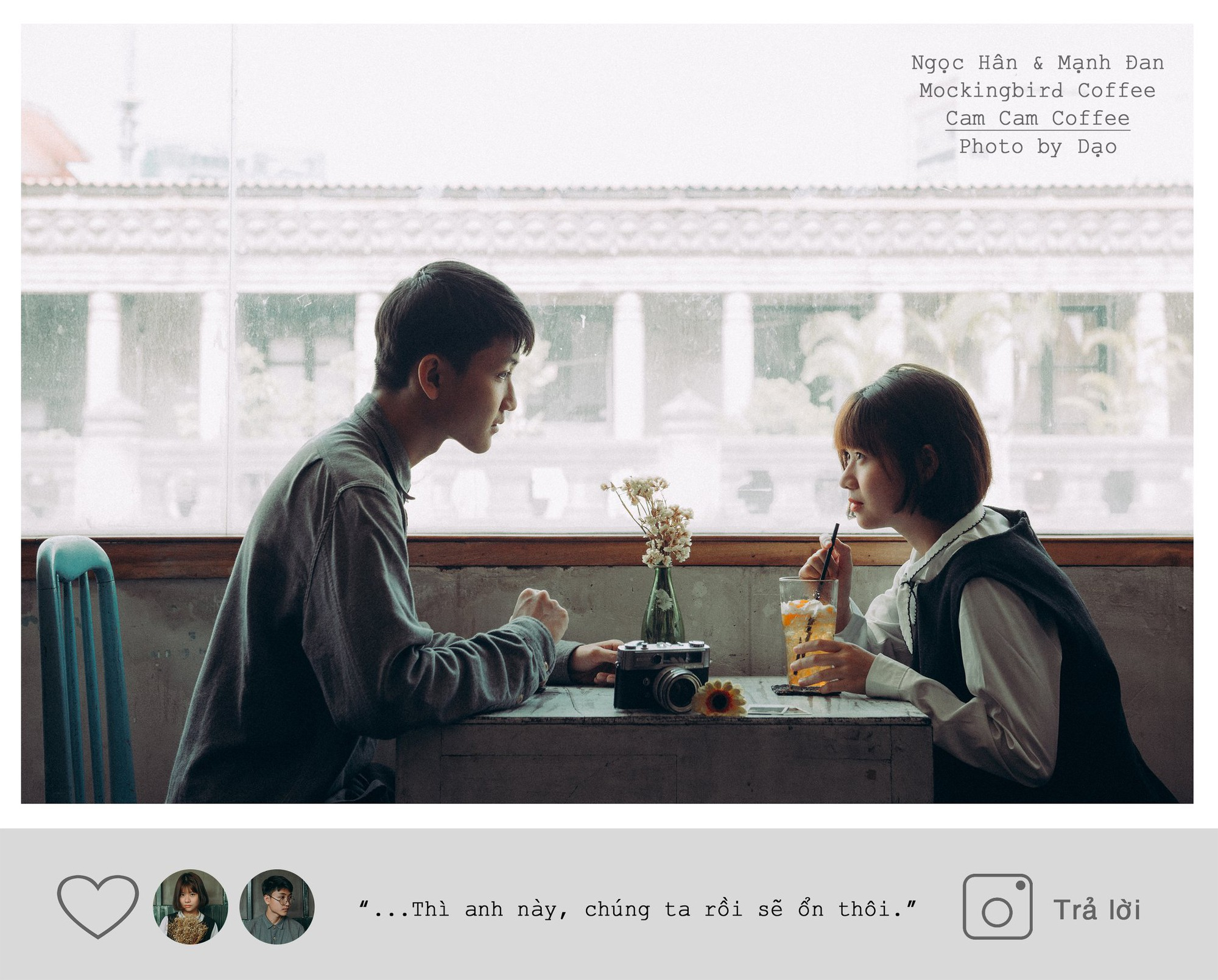 """Chắc hẳn bạn vẫn còn nhớ Mạnh Đan (sinh năm 2001) và Ngọc Hân (sinh năm 2000), couple siêu dễ thương đến từ trường Trưng Vương, từng gây sốt với mối tình tuổi học trò trong bộ ảnh """"Gửi thanh xuân"""" chứ?"""