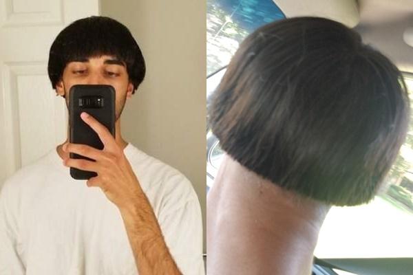 Tin tưởng nhờ bạn thân cắt tóc, anh chàng nổi tiếng sau một đêm với quả đầu hình cây nấm