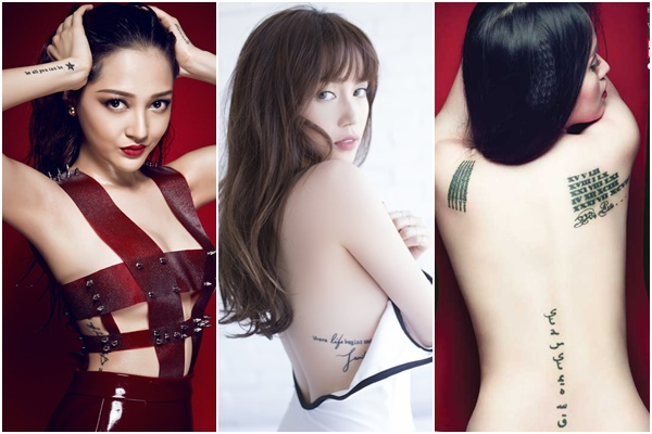 """Những hình xăm cực """"kín kẽ"""" trên cơ thể mỹ nhân Việt, chỉ """"lấp ló"""" khi ăn vận táo bạo"""