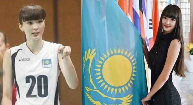 """Nữ vận động viên bóng chuyền Kazakhstan xinh đẹp được mệnh danh """"hoa khôi bóng chuyền thế giới"""""""