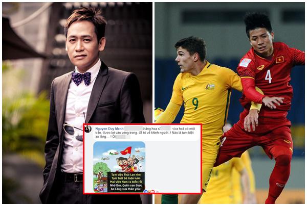 """U23 Việt Nam thắng, Duy Mạnh bức xúc khi fans Việt tung hô quá đà: """"Hòa một trận đã khinh người"""""""