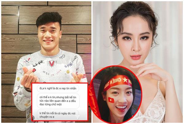 """Vừa thả thính Hoa hậu, Bùi Tiến Dũng lại công khai """"gạ tình"""" Angela Phương Trinh bằng câu ngôn tình này!"""