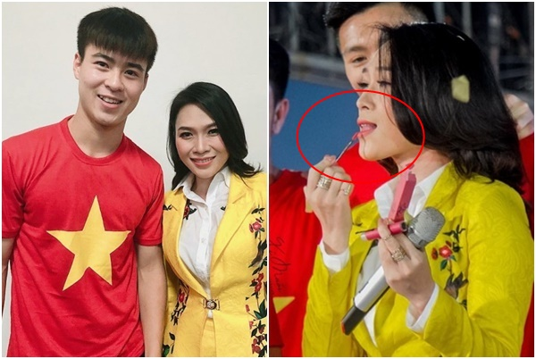 Xin tặng son, chụp hình tự sướng, Mỹ Tâm là sao Việt duy nhất khiến cả đội U23 mê mẩn!