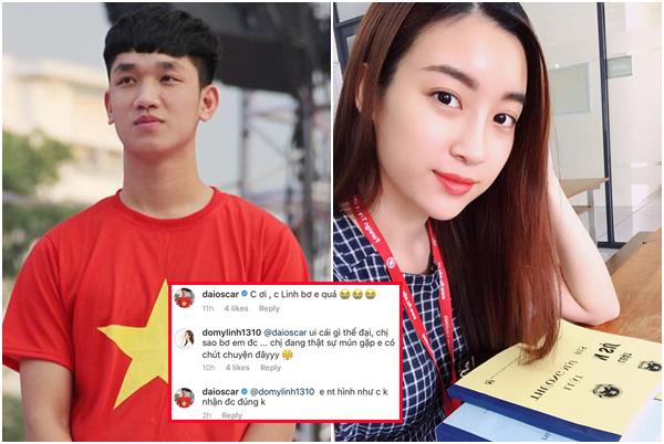 """Bỏ Tiến Dũng, Mỹ Linh lại """"thả bả"""" ngầm cầu thủ đẹp trai nhất U23 Việt Nam, lại còn đòi gặp mặt?"""