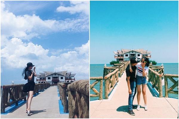 """Thương nhau thì cùng """"trốn"""" cái nóng của Sài Gòn ngày cuối tuần tại cây cầu tình yêu Nam Hải"""