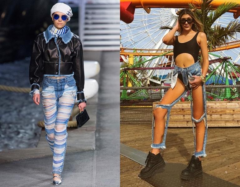 """Liệu có cuộc chiến nào giữa Chanel và CARMAR, khi jeans """"ăn mày"""" vừa tung ra đã soán ngôi """"quần biến mất""""?"""