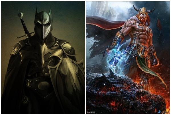 """Dáng vẻ """"chất ngầu"""" của các siêu anh hùng và ác nhân khi vượt thời gian về thời Trung Cổ"""