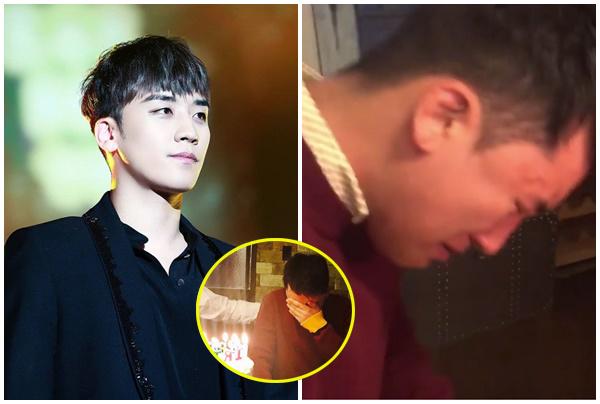 """Nhìn Seungri (BIGBANG) """"khóc tu tu"""" như đứa trẻ khi được tổ chức sinh nhật, chị em lại """"muốn chửa""""!"""