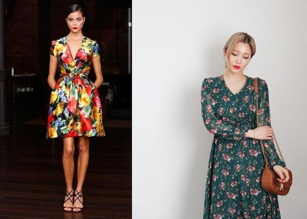 Váy hoa nhí – cơn sốt mùa hè của những cô gái Hàn Quốc