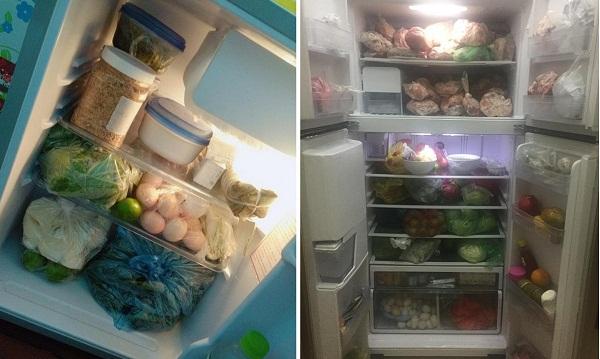 Sinh viên háo hức khoe tủ lạnh ngập đồ ăn được bố mẹ tiếp tế