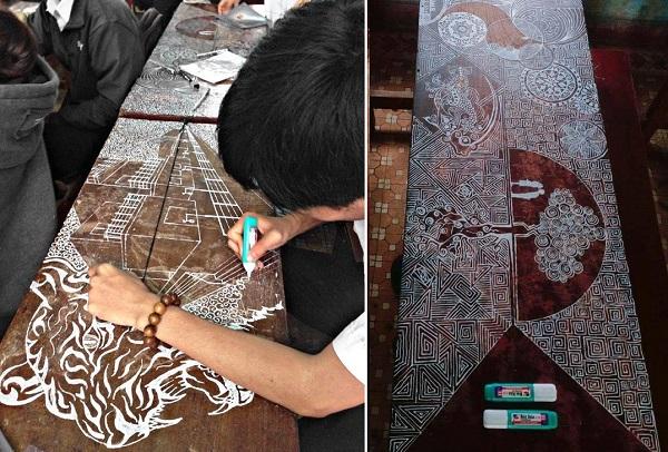 Choáng váng trước kiệt tác vẽ lên bàn của chàng tân sinh viên ĐH Duy Tân