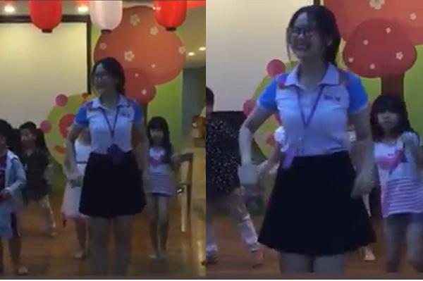 Cô giáo xinh và nhảy đẹp thế này, bảo sao bố đi cổ vũ con diễn văn nghệ mà về nhà kiểm tra máy toàn thấy quay cô