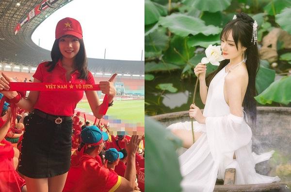 """Nữ CĐV Việt """"gây sốt"""" truyền hình Hàn tại ASIAD """"lột xác"""" thành nàng tiên xinh đẹp, yêu kiều giữa đầm sen"""