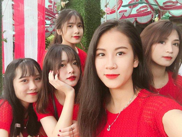 """Nhan sắc xinh đẹp của dàn """"mỹ nữ"""" bê tráp ở Lào Cai khiến các chàng nhất quyết xin bằng được link Facebook"""