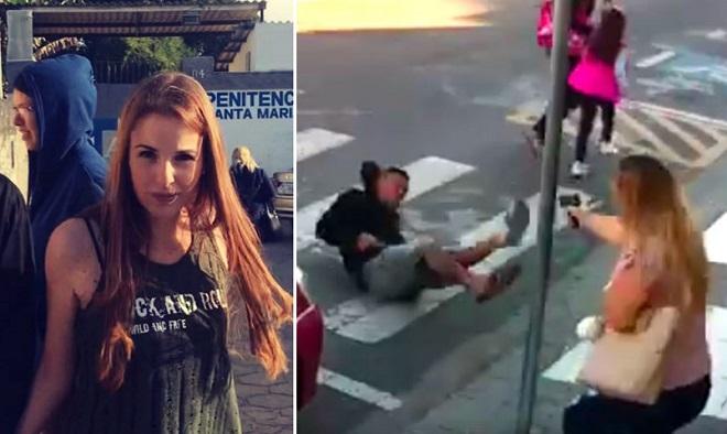 Chĩa súng vào các mẹ và các em nhỏ, tên cướp không ngờ bị một phụ nữ bắn vào ngực