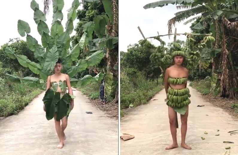 """Giới trẻ thách thức Victoria's Secret show bằng """"bộ sưu tập Vườn Ao Chuồng"""" chất liệu rau củ quả """"hết đỡ"""""""