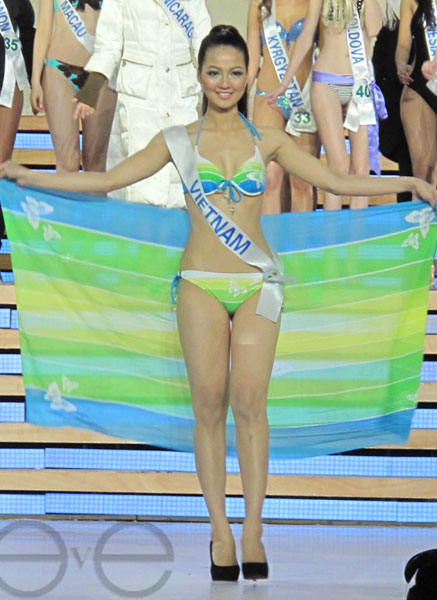 Năm 2009, chị là đại diện Việt Nam tham dự cuộc thi Hoa hậu quốc tế tại Bắc Kinh, Trung Quốc.
