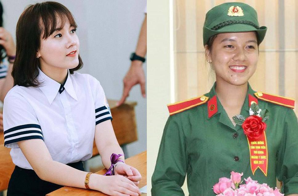 Nữ sinh Học viện Quân y dù mặc quân phục vẫn xinh đẹp, chuyển khối A sang khối B vẫn đỗ thủ khoa