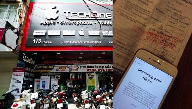 """TechOne bị tố lừa đảo bán iPhone 7 Plus hàng lock """"đội lốt"""" hàng quốc tế"""