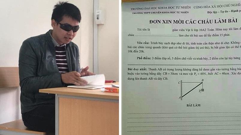 """Thầy giáo hài hước """"nhất quả đất"""", thường đeo kính râm vào giờ kiểm tra khiến học sinh khó lòng qua mặt"""