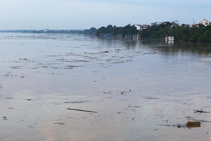 Thủy Hòa Bình xả lũ ảnh hưởng nhiều nơi. Sông Hồng tại Hà Nội chiều qua 12/10 đạt đỉnh 8,9 m, dưới báo động 1 là 0,6 m. Nước lũ đổ về từ thượng nguồn mang theo nhiều rác, vật liệu cứng nổi dày đặc trên mặt sông.