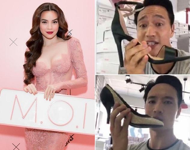 """Trong khi Hà Hồ ra mắt son mới, Kim Lý lại bị chê """"mất giá"""" khi quảng cáo giày bình dân?"""