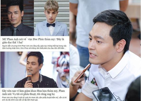 """Bị tố phát biểu """"lật mặt"""", hai lời chuyện phẫu thuật thẩm mỹ, MC Phan Anh lên tiếng """"kêu oan"""""""