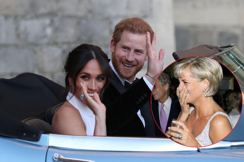 Ngay sau đám cưới, Meghan Markle diện thiết kế váy cưới thứ 2 sang trọng không kém, đeo nhẫn của mẹ chồng để tưởng nhớ