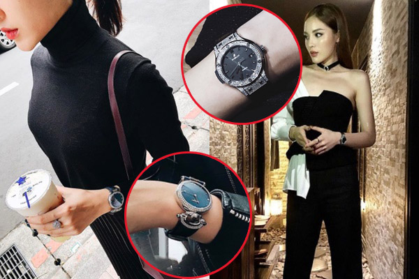 """Vẫn """"chiến tranh ngầm"""" với nhau, thấy Kỳ Duyên diện đồng hồ nạm kim cương 300 triệu, Huyền My mua hẳn đồng hồ 700 triệu cho bõ"""