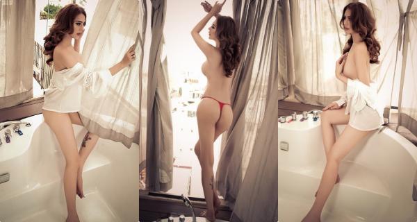 """Ăn mặc hớ hênh như Ngọc Trinh chưa là gì, phải chụp ảnh nude như """"công  chúa"""" Lâm Khánh Chi mới là táo bạo"""