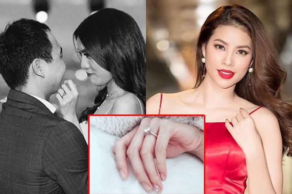 """Lan Khuê khoe nhẫn đính hôn trên mạng, Phạm Hương liền vào """"đánh tiếng"""" khiến ai cũng bất ngờ"""
