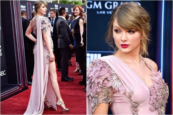 """Bị """"bạn thân"""" Ed Sheeran lẫn BTS qua mặt chiếm giải, """"rắn chúa"""" Taylor Swift vẫn có cách trả thù """"độc"""" bằng bộ váy 800 giờ may tay"""