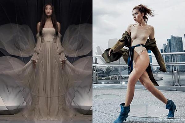 Minh Tú đẹp ma mị, tái hiện màn catwalk thần sầu tại Asia Next Top Model trong BTS của Chung Thanh Phong