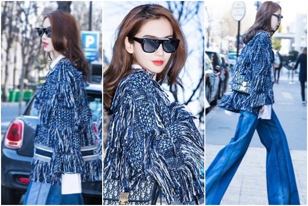 """Tái xuất tại Tuần lễ thời trang Paris, Angela Baby bất ngờ chiếm chọn spotlight giữa phố vì phong thái quá """"sang chảnh"""""""