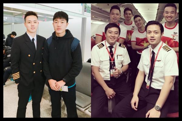 """Chiêm ngưỡng nhan sắc thuộc hàng """"cực phẩm"""" của chàng cơ trưởng 9x lái chuyên cơ đặc biệt đón U23 Việt Nam"""