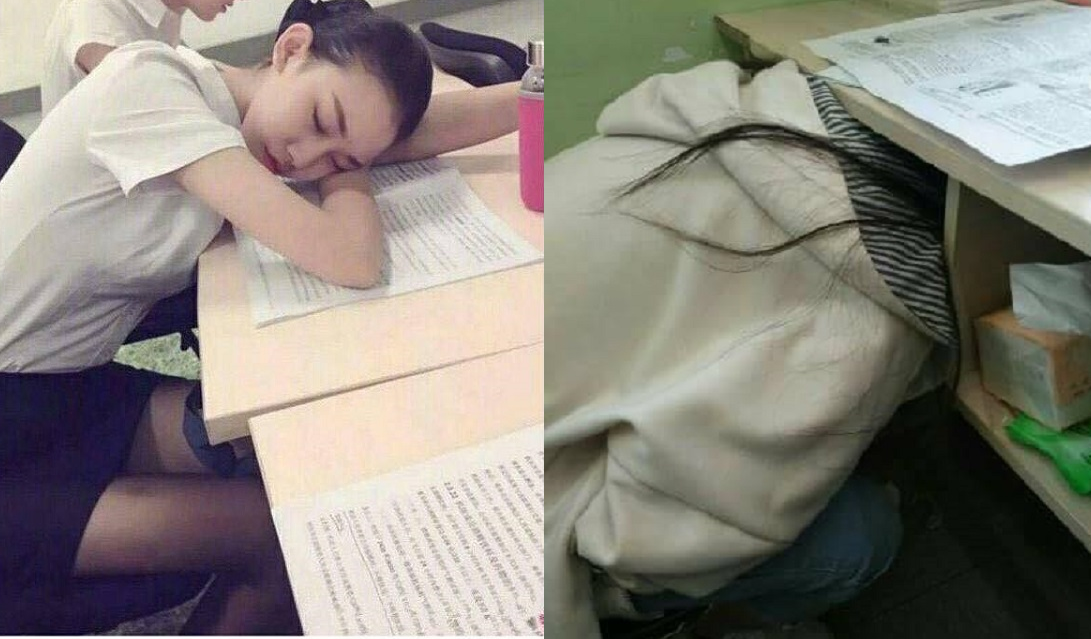 """Con gái lớp người ta khi ngủ thì yêu thế, quay sang nhìn con gái lớp mình thì """"cạn lời"""""""
