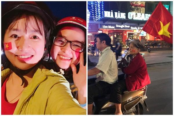 """Fan nữ Việt Nam """"chất"""" nhất từ trước tới nay vì U23 Việt Nam: Từ những cụ bà đến... các mẹ chờ sinh cũng """"quẩy"""""""