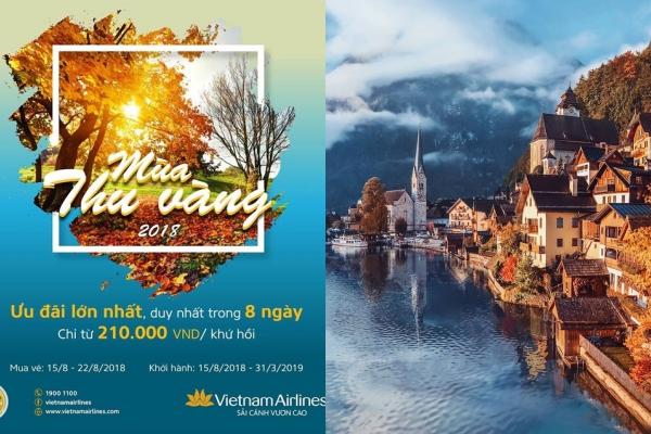 HOT: Chiến dịch chào thu mới toanh của Vietnam Airlines - BOOK VÉ KHỨ HỒI rẻ hết sẩy chỉ từ 210k