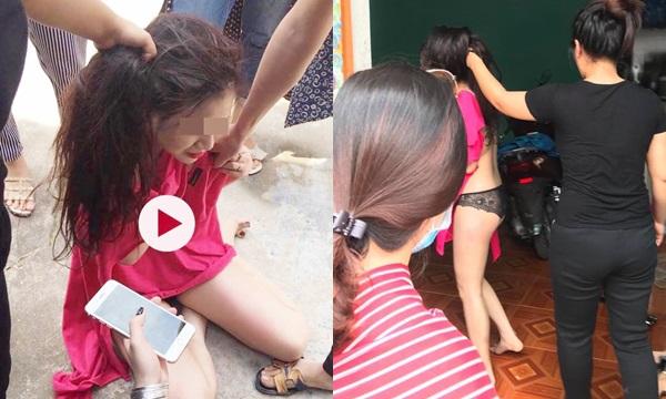 Quảng Ninh: Hội chị em bạn dì đánh ghen cạo trọc đầu, xé tan quần áo của bồ giữa phố