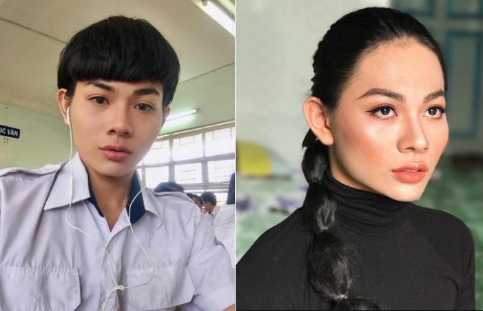 Ấn tượng với vẻ đẹp lưỡng tính của nam sinh lớp 11 Sài thành