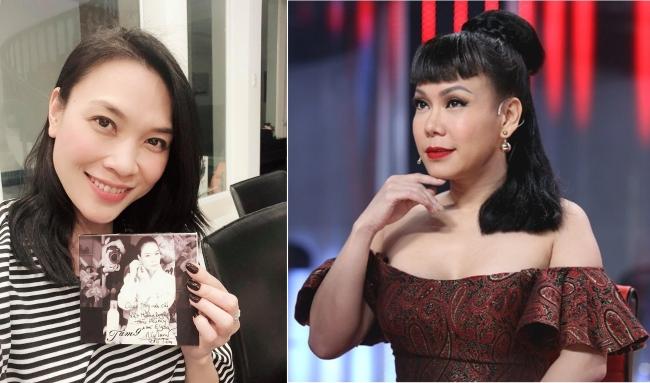 """Việt Hương """"mặt dày"""" xin album bị Mỹ Tâm đáp trả gay gắt, mong chị """"bớt duyên dùm"""""""