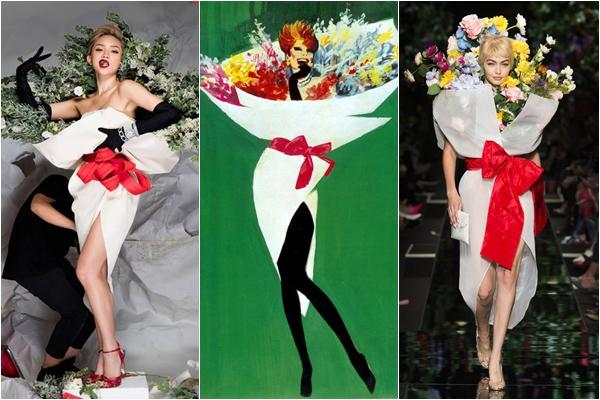 """100 năm sau, những bó hoa """"di động"""" lại một lần nữa xuất hiện trên sàn thời trang thế giới"""