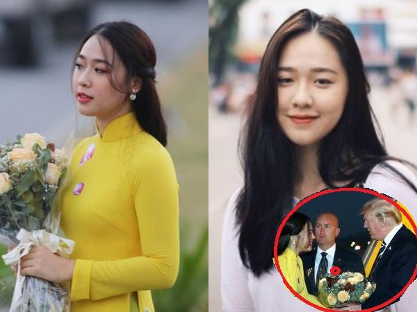 Lộ diện chân dung cô gái được tặng hoa cho Tổng thống Mỹ Donald Trump, bất ngờ vì nhan sắc thật!