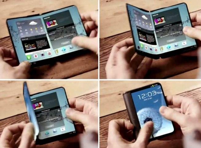 Samsung bí mật giới thiệu mẫu smartphone gập cạnh tranh với iPhone X