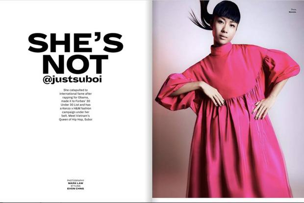 Suboi khẳng định tài năng của mình trên trang bìa tạp chí danh tiếng của Singapore