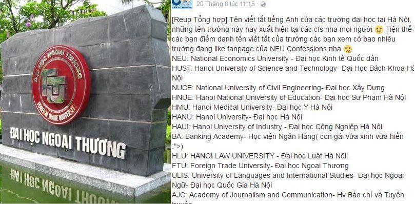 Cập nhật tên viết tắt bằng tiếng anh của các trường ĐH tại Hà Nội, chưa chắc bạn đã biết