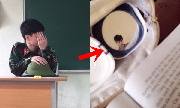 Thầy quốc phòng đẹp trai nhưng sợ nổi tiếng nên lấy tay che mặt, học sinh bèn nghĩ ra cách bá đạo này đây!