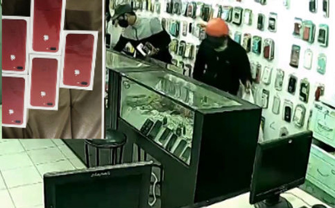 Táo tợn toán cướp đu dây vào Điện Máy Xanh, khống chế bảo vệ, cướp hàng trăm chiếc iPhone 7